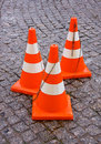 Safety Traffic Cones Royalty Free Stock Photo