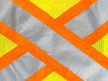 Safety vest reflective tape in x cross Royalty Free Stock Image