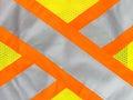 Safety vest reflective tape Royalty Free Stock Photo