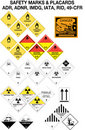 Safety warning signs collection - vector Royalty Free Stock Photo