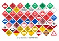 Safety warning signs - Transport Signs 2/3 - Vector Royalty Free Stock Photo