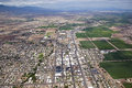 Safford arizona aerial view of the town of in southeast Royalty Free Stock Photo