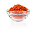 Saffron in glass tableware Royalty Free Stock Photos