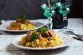 Saffron Risotto And Pork