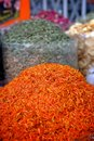 Saffron at the spice market red and orange in dubai Stock Images