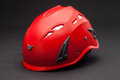 Safty helmet red on black background Stock Photos