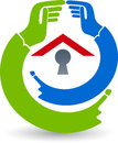 Safty house logo Royalty Free Stock Photo