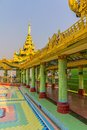 Sagaing hill colorful decoration in temple at the top of near mandalay great tourist attraction myanmar Royalty Free Stock Photography