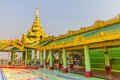 Sagaing hill colorful decoration in temple at the top of near mandalay great tourist attraction myanmar Royalty Free Stock Image
