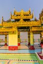 Sagaing hill decoration of the buddhistic temple at the top of near mandalay myanmar Stock Photos