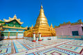 Sagaing hill, Mandalay, myanmar. Stock Images