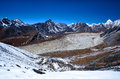 Sagarmatha national park nepal view from chukkung ri hill meters in the himalaya Stock Images