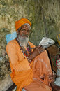A Sage at Haridwar, India Stock Photos