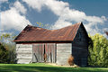 Sagging barn Royalty Free Stock Photography
