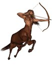 Sagittarius the archer galloping centaur representing ninth sign of zodiac d digitally rendered illustration Royalty Free Stock Image