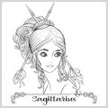 Sagittarius, archer. A young beautiful girl