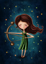 Sagittarius astrological sign girl Royalty Free Stock Photo