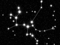 Sagittarius zodiac sign bright stars in cosmos Stock Images