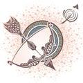 Sagittarius. Zodiac sign