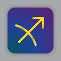 Sagittarius zodiac vector sign, horoscope symbol, astrology line Royalty Free Stock Photo