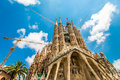 Sagrada crane sky Royalty Free Stock Images