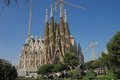 Sagrada família basilica spain sargrada familia taken from park using mm fish eye lens should be finished by Royalty Free Stock Photos