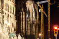 Sagrada Familia by Antoni Gaudi in Barcelona Stock Photography
