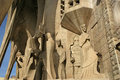 Sagrada Familia by Antoni Gaudi in Barcelona Stock Photos