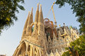 Sagrada Familia by Antonio Gaudi Royalty Free Stock Images