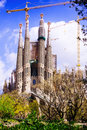 Sagrada familia by architect antoni gaudi view of barcelona spain Stock Image