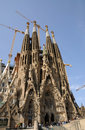Sagrada Familia in Barcelona Stock Photo