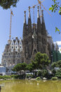 Sagrada familia at barcelona the church in spain it s been work in progress since antoni gaudi is among the most famous architects Royalty Free Stock Image