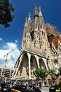 Sagrada familia barcelona gaudi s most famous and uncompleted church in spain Royalty Free Stock Photos