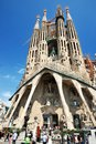 Sagrada familia barcelona gaudi s most famous and uncompleted church in spain Stock Photos