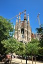 Sagrada familia barcelona gaudi s most famous and uncompleted church in spain Stock Photo