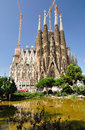 Sagrada familia barcelona the impressive cathedral designed by architect gaudi Royalty Free Stock Photography