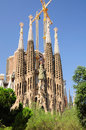 Sagrada familia barcelona the impressive cathedral designed by architect gaudi Stock Photo