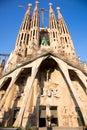 Sagrada Familia  in Barcelona, Spain. Stock Photography