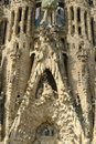 Sagrada familia barcelona spain details of nativity facade describe the jesus birth catalonia Stock Image