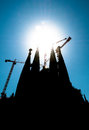 Sagrada Familia of Barcelona in Spain, Europe. Stock Photography