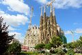 Sagrada familia barcelona spain nativity facade catalonia Stock Photography