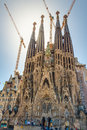 Sagrada familia in barcelona still under construcion la one of the famous church the world Stock Image