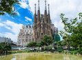 Sagrada familia in barcelona view of spain Royalty Free Stock Images