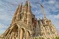 Sagrada Familia cathedral in Barcelona, Spain. Royalty Free Stock Photo