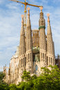 Sagrada familia cathedral barcelona spain facade on september this was designed by famous spanish architect antoni gaudi and hadn Stock Image