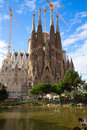 Sagrada familia cathedral barcelona spain famouse spanish Stock Images