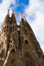 Sagrada familia cathedral facade barcelona spain famouse spanish Stock Photography