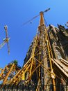Sagrada familia church in barcelona famous designed by antoni gaudi catalonia spain Royalty Free Stock Image