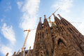 Sagrada familia detail barcelona spain amazing esterior details of church Royalty Free Stock Photography