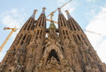 Sagrada familia detail barcelona spain amazing esterior details of church Stock Photos